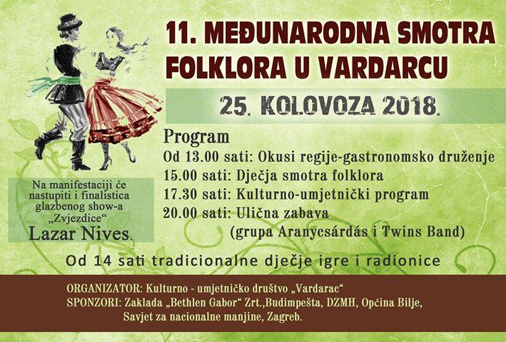 11. Međunarodna smotra folklora u Vardarcu @ Vardarac