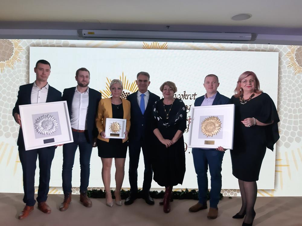 """Dvije nagrade """"Suncokret ruralnog turizma Hrvatske"""" stigle su u općinu Bilje"""