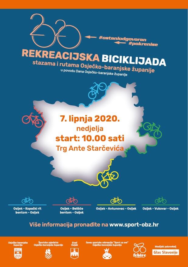Rekreacijska biciklijada @ Osijek, Kopačkirit, Belišće, Antunovac, Vukovar
